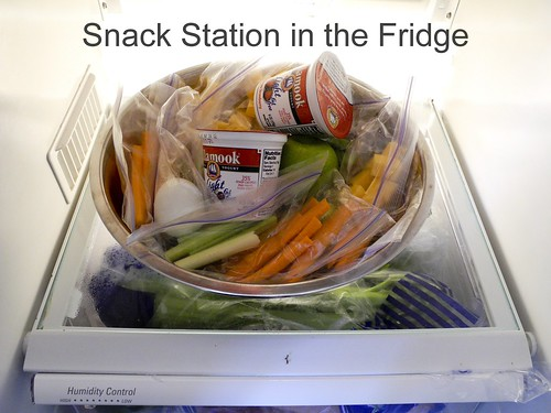 Snack Station in the Fridge