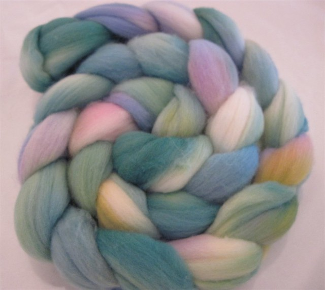 Maiden's Bower - hand painted rambouillet wool roving