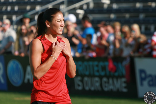 Hope Solo U.S. Women's Soccer Team Practice Dick's Sporting Goods Park by Corbin Elliott Photography