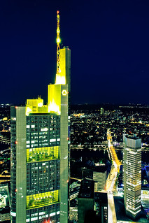 Frankfurt Night Lights From Above