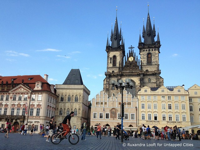 Biking in Prague