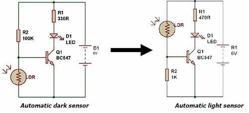 dark light sensor using transistor buildcircuit 12 volt solar motion light wiring diagram