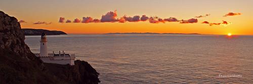 sea lighthouse sunrise coast douglas isleofman