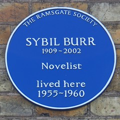 Photo of Sybil Burr blue plaque