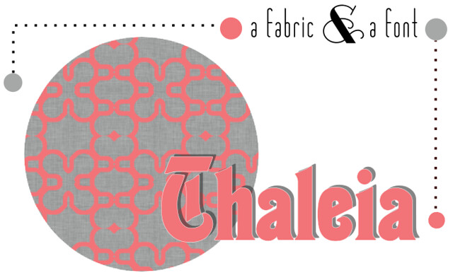 Thaleia + Spoonflower Coral Lines Mosaic