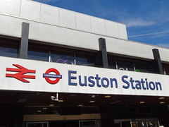 Euston Station entrance sign