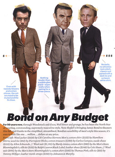 Bond on Any Budget- Esquire 10/12