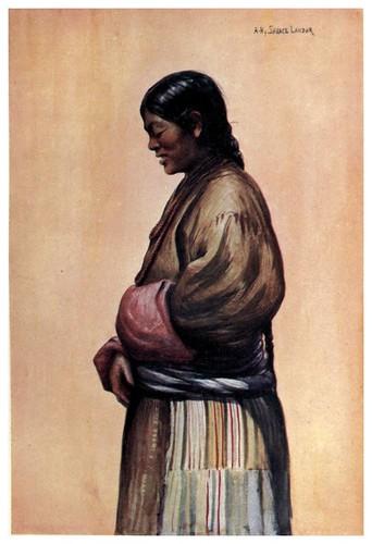 012-Mujer tibetana de la clase plebeya-Tibet & Nepal-1905-A. H. Savage-Landor