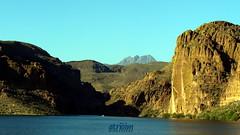 Four Peaks over Canyon Lake, Arizona