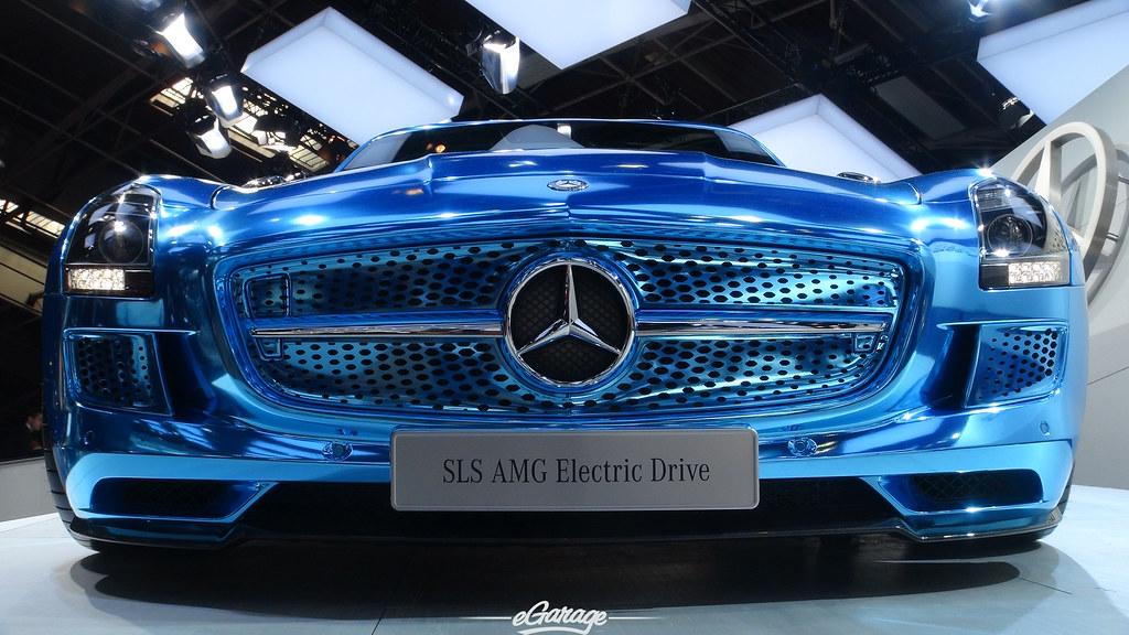 8034740466 89781fb751 b eGarage Paris Motor Show SLS Electric
