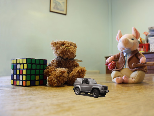 Toys on the table by Helen in Wales