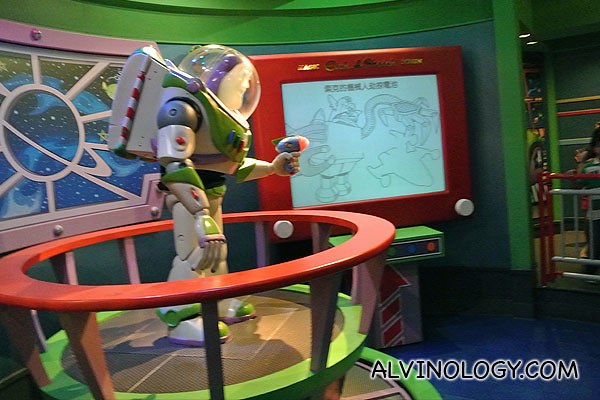 Buzz giving a mission briefing before we get on the ride