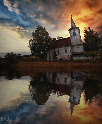 sunset sky lake reflection art church digital sunrise romania sighisoara mures רומניה cluuds mygearandme