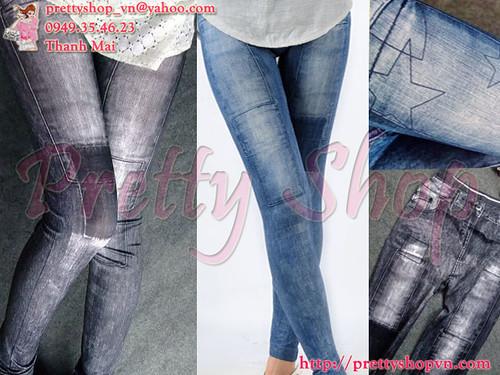 Quần legging da bóng, quấn dây, ngôi sao, loang rách, giả jean, họa tiết, lót nỉ, legging bà bầu