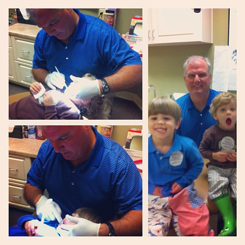 First dentist visit for Miller!  Both boys did great. Thanks Dr. Fuson!