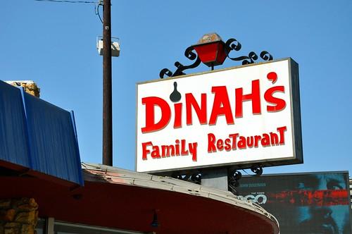 Dinah's Family Restaurant Sign