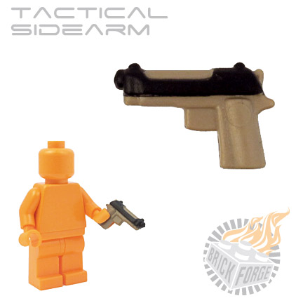 Tactical Sidearm - Dark Tan (black slide print)
