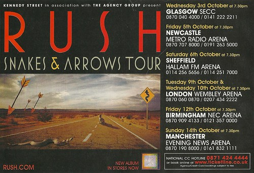 10/03 - 14/07 Rush UK Tour