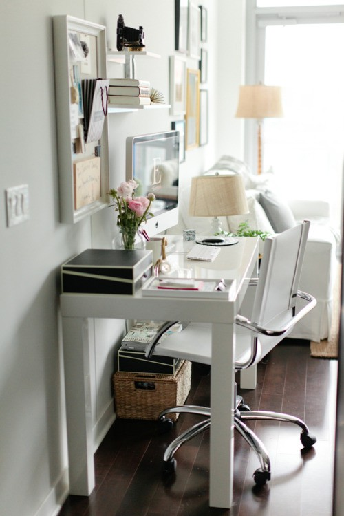 wednesday white home office