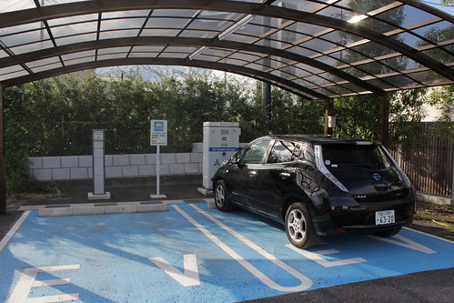 道の駅 よしおか温泉の電気自動車充電設備