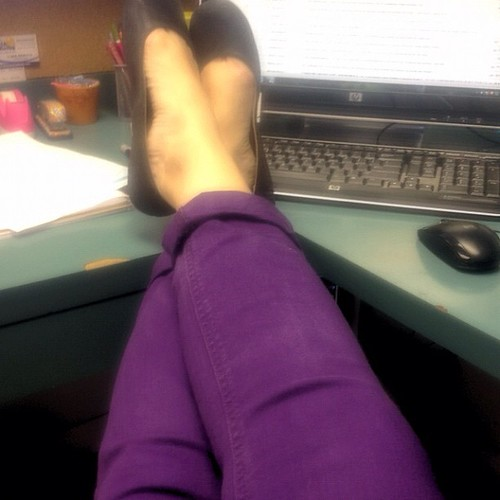Ok- a better pic of the purple pants (because I had 2 people ask me about the color)