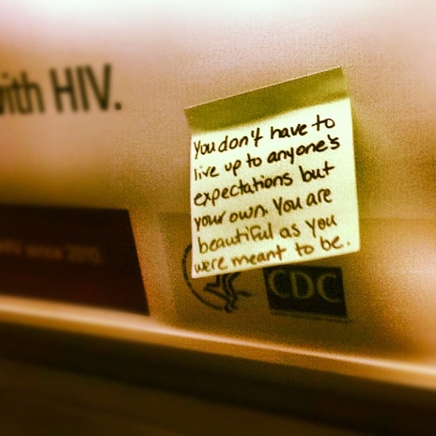 there wants to cheer up people who are feeling low..saw this sticky ...