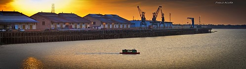 Panoramica del atardecer en Puerto de Asunción