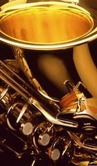 Closeup image of saxophone