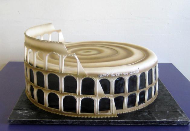 ROMA 'RESTAURO vs. RIPRISTINO'? - Torta di compleanno di un Architetto Italiano di Restauro!