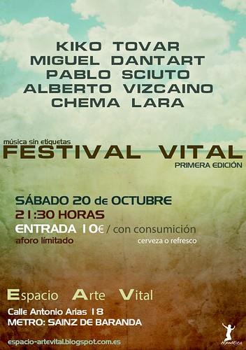 Chema Lara y amigos en concierto el 20 de octubre en Madrid