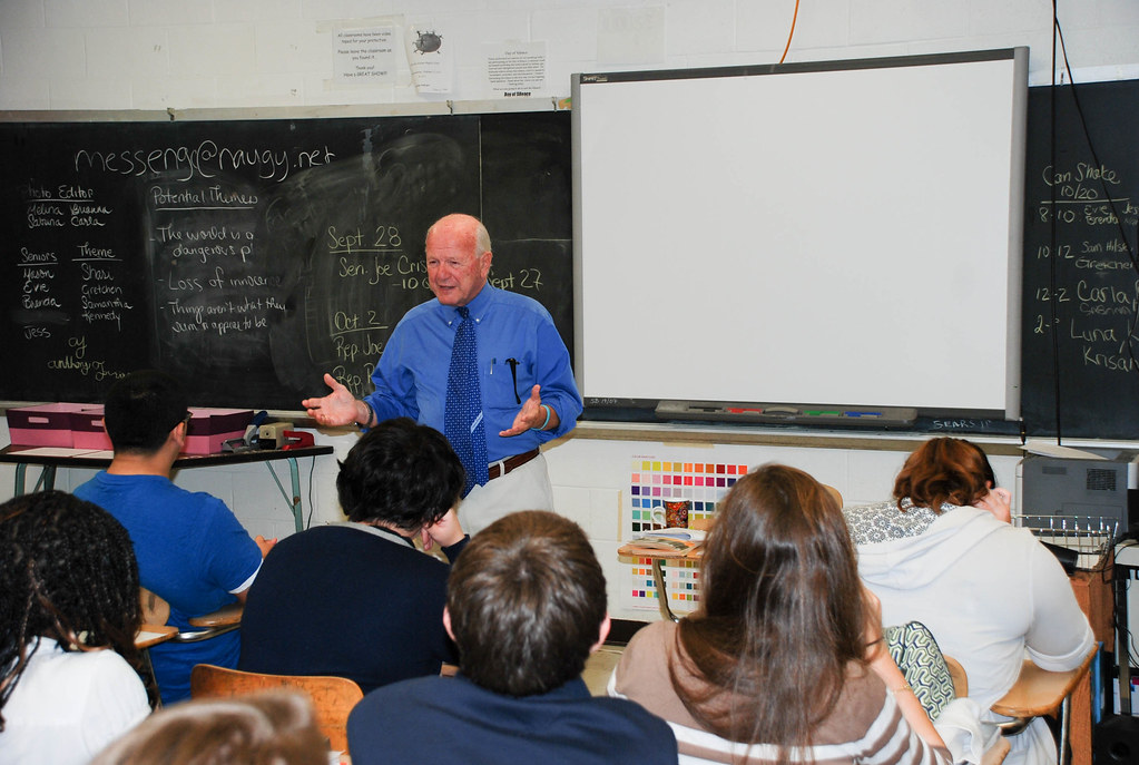 Visting With Naugatuck High School Students