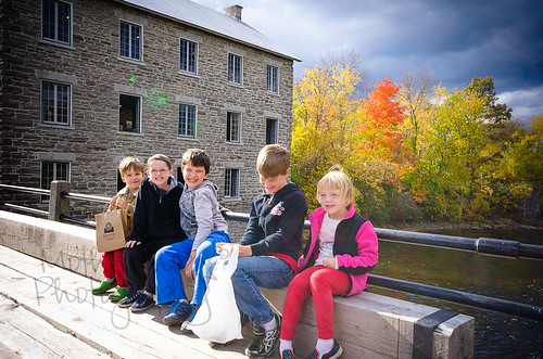 Kids at the mill