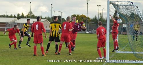 Cliffe FC 2 - 4 Thorpe United 6Oct12
