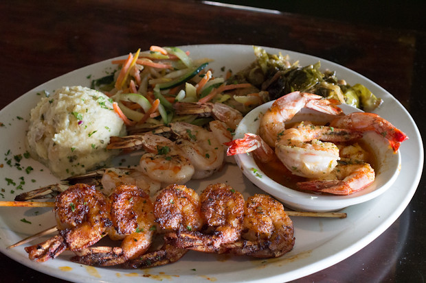 Shrimp Trio, Sharky's on the Pier, Venice, FL, Restaurant Review
