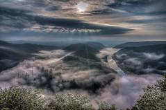 Saarschleife in the fog