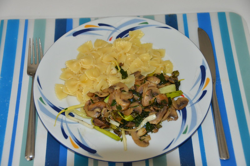 Mushrooms and pasta