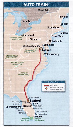 Amtrak Auto Train Map