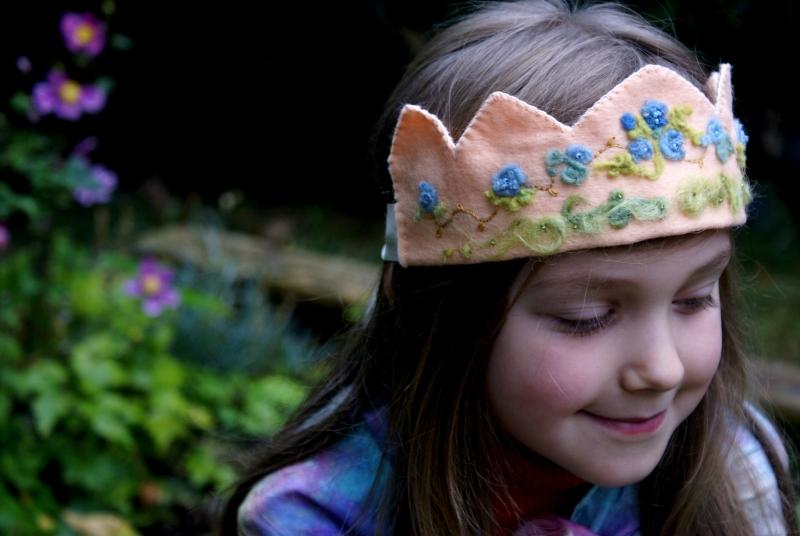 custom blue rose crown