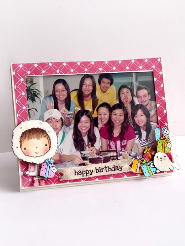 Birthday frame with photo