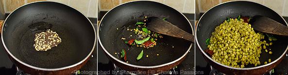 How to make green gram sundal - Step2