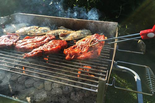 Grillen - BBQ - Barbeque - Fleisch auf dem Grill - 2 -