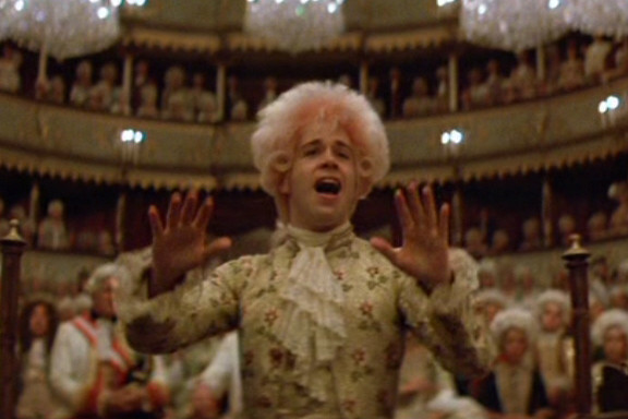 Tom Hulce playing Mozart in Amadeus