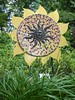 Janesville, WI, Friends' Backyard Garden, Sun Sculpture