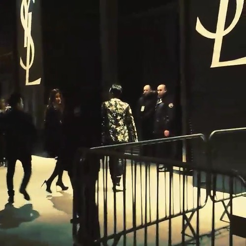 G-Dragon Saint Laurent Show Paris 2015-01-25 Videostills- 5