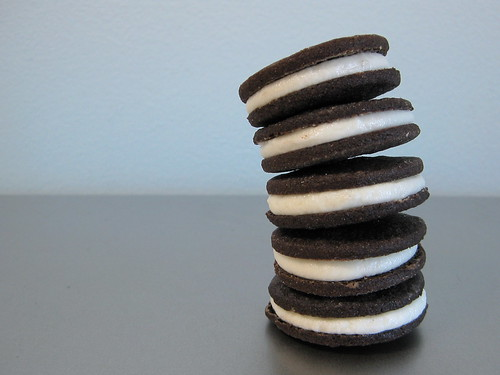 gluten-free chocolate cream-filled sandwich cookies