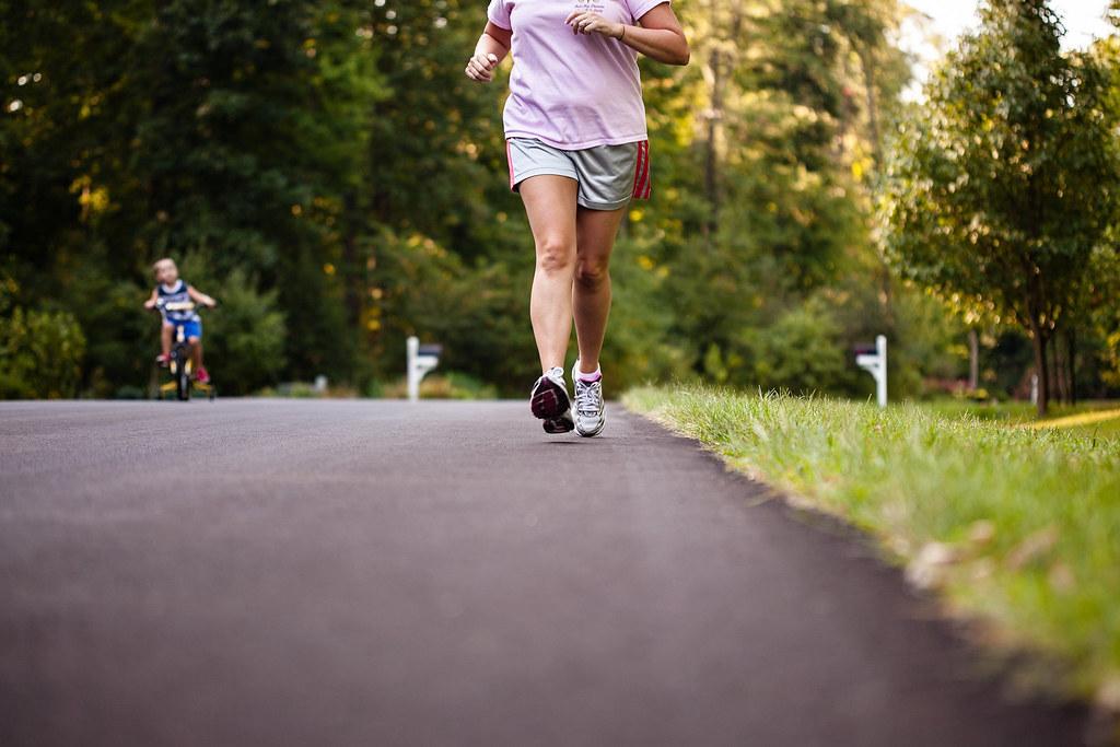Mom running 5