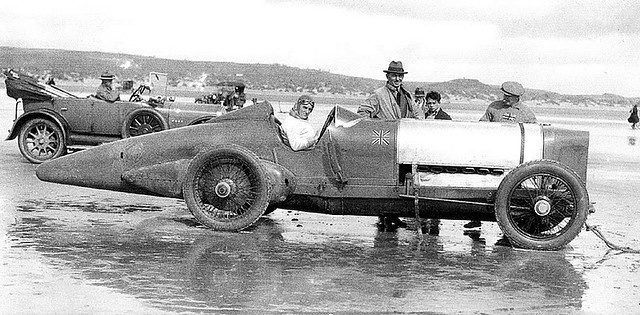 1924 Campbell Sunbeam Blue Bird at Pendine Sands