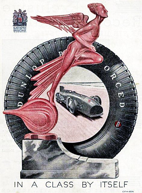 1931 Dunlop ad ft. Blue Bird