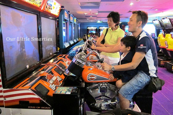 At the game arcade