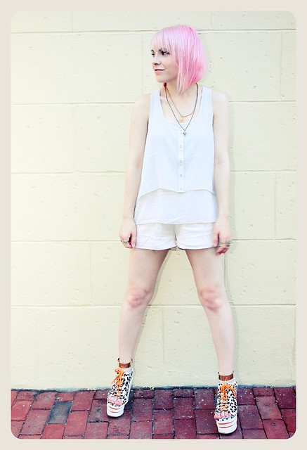 pink hair h&m summer campy pastel ankle cuffs